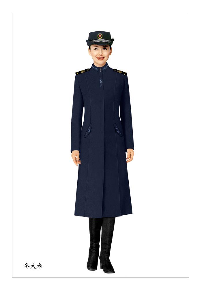 妇女款保安大衣制服