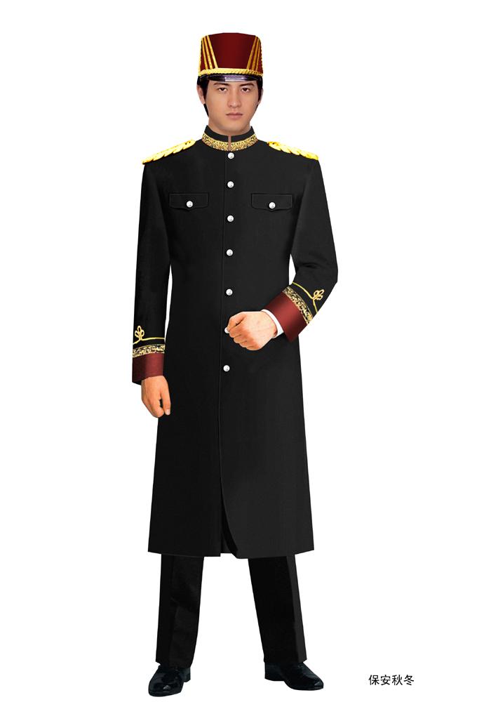 工厂保安大衣制服