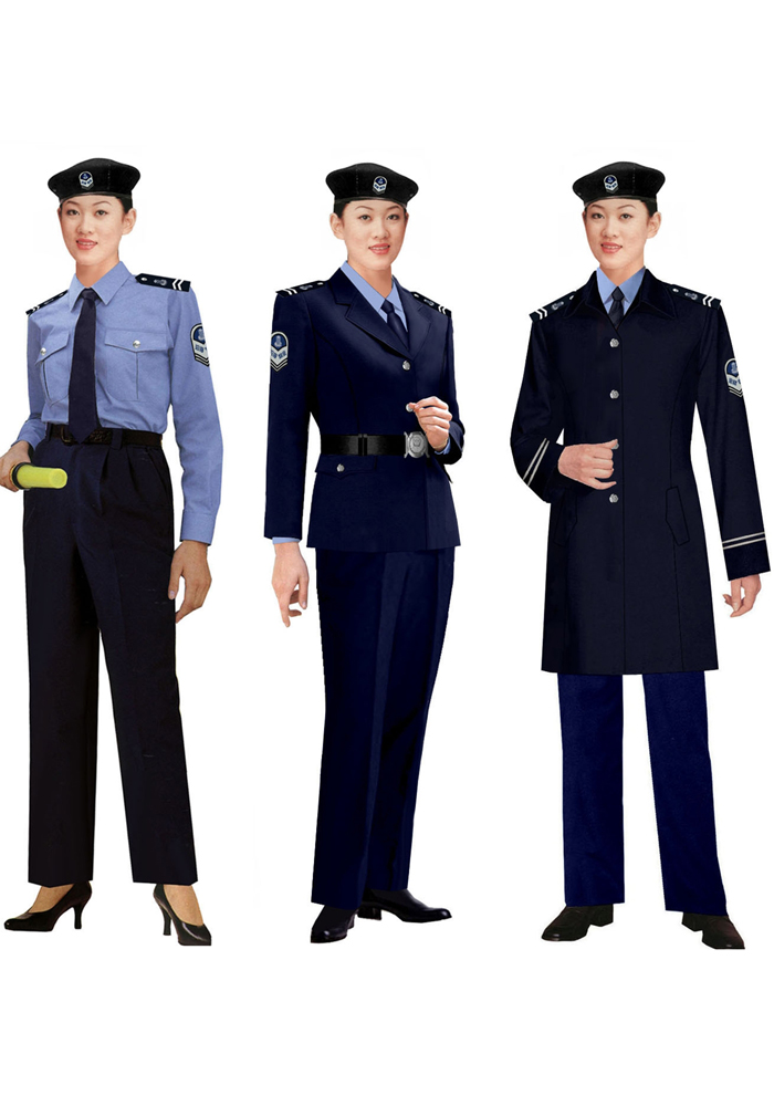 女保安大衣制服图片