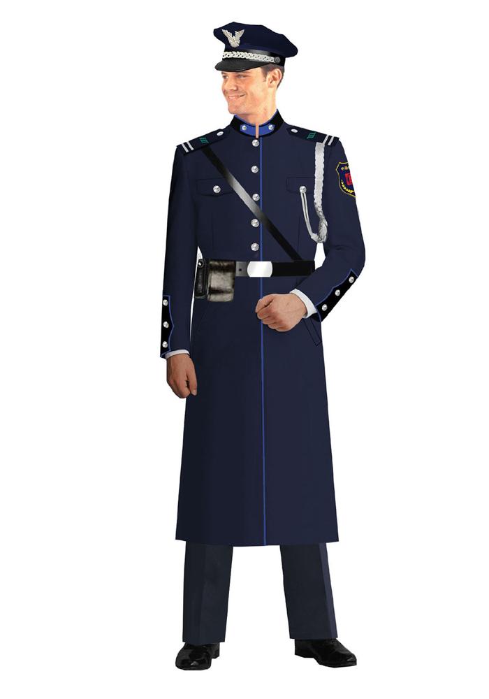 现货保安大衣制服