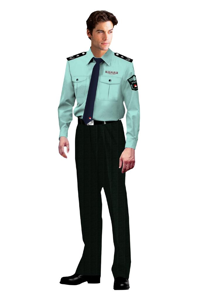 夏装男保安服