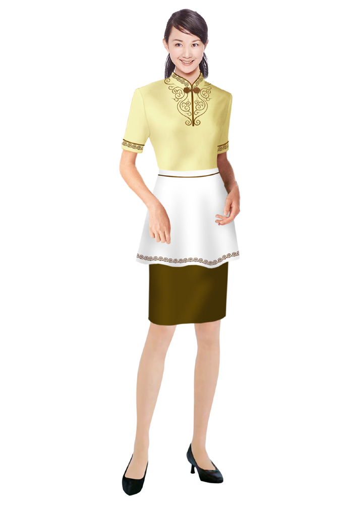 小吃服务员服装