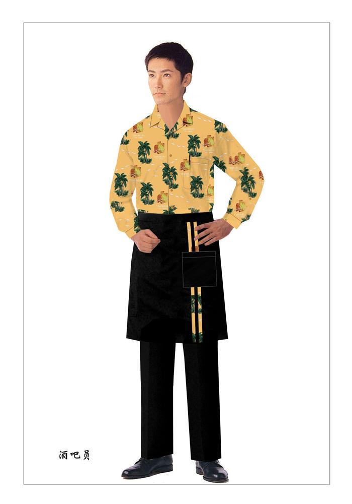 生产西餐传菜员服装